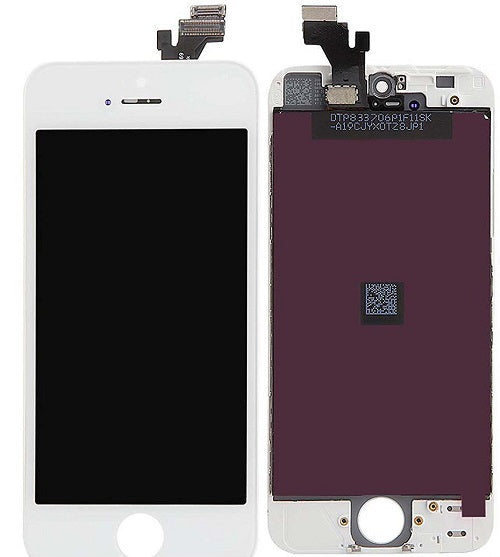 (Closeout) Display Part - Glass Screen, Digitizer & LCD for iPhone 5, White