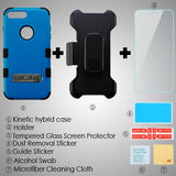 For iPhone 8 / 7 Plus Natural 3-in-1 TUFF Hybrid Protector Cover Stand Holster