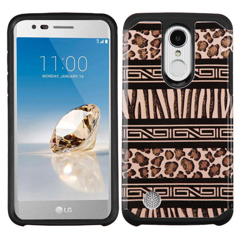 For LG K4/Fortune/K8/Phoenix 3 Advanced Impact Armor Protector Case Cover