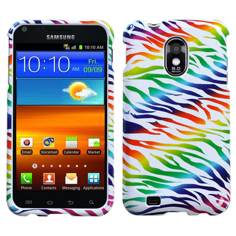 For D710 Epic 4G Touch/Galaxy S II 4G/R760 Colorful Zebra Phone Protector Cover