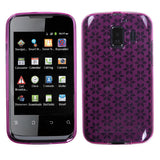 For M636 Pinnacle 2 Hot Pink Hexagon Silicone Candy Skin Protector Cover Case