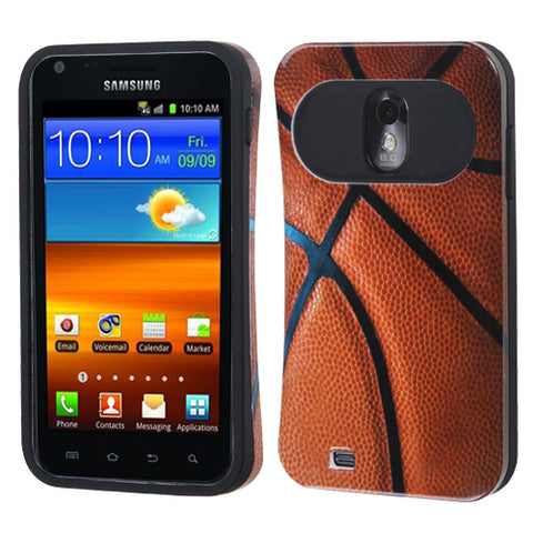 For Epic 4G Touch Galaxy S2 Basketball-Sports Collection/Black Back Case Cover
