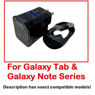 For Samsung Galaxy Tab 1, 2, 3 OEM Data Sync USB Cable Home Charger Wall Adapter