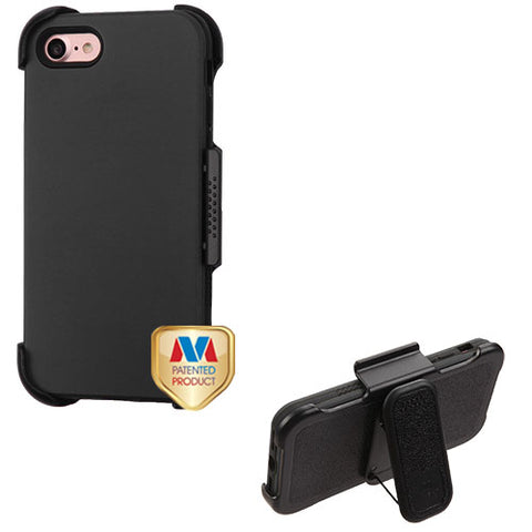 For iPhone 7 / 8 VERGE Hybrid Armor Protector Cover Case w/Black Holster