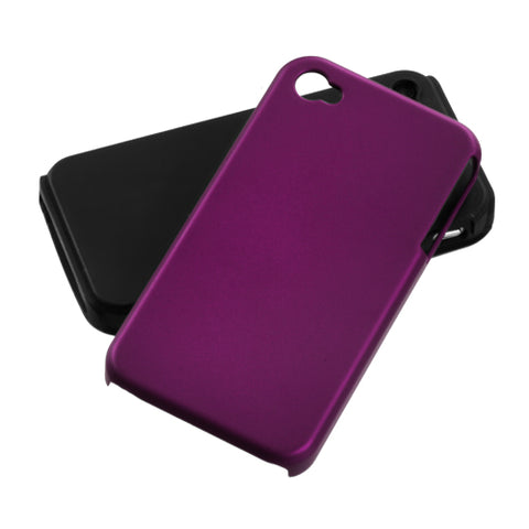 For iPhone 4s/4 Purple Fusion Rubberized Protector Cover Case