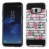 For Samsung Galaxy S8 Plus Brushed Hybrid Phone Protector Hard Impact Case Cover
