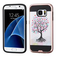 For Samsung Galaxy S7 Brushed Impact Armor Hybrid Protector Case Cover