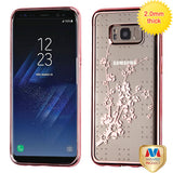For Samsung Galaxy S8 Glassy SPOTS Electroplated Premium Candy Skin Case Cover