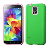 For Galaxy S5 Pearl Green/Baby Pink Advanced Armor Protector CoverCover