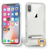 For iPhone XS/X TUFF Panoview Hybrid Protector Case with Magnetic Metal Stand