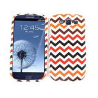 Chevron Zig Zag Black/Red Hard Slim Protector Cover Case for Samsung Galaxy S 3