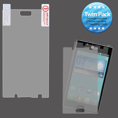 2x LCD Screen Cover Protector Film with Cloth Wipe for LG Splendor