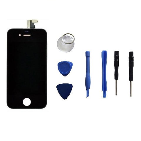 New LCD Touch Screen Digitizer Glass Assembly +8 Pk Repair Tools for iPhone 4 4S