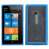 For Lumia 900 Transparent Clear/Solid Baby Blue Gummy Protector Cover Case