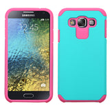 For Galaxy E5 Teal Green/Hot Pink Astronoot Phone Protector Cover