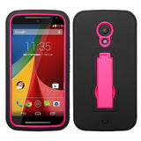 Symbiosis Rubberized +Stand Protector Cover Case for MOTOROLA Moto G 2nd Gen