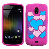 For i515 Galaxy Nexus Colorful Love/Hot Pink Pastel Skin Cover