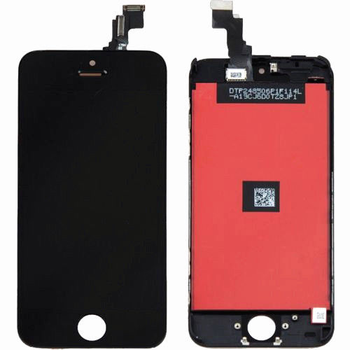 (Closeout) Display Part - Glass Screen, Digitizer & LCD for iPhone 5C, Black