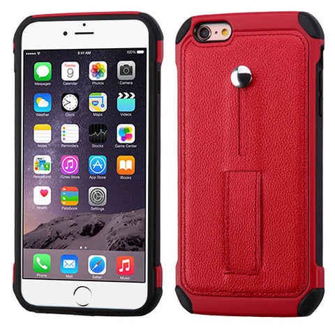 For iPhone 6/6s Plus Leather Backing Astronoot Protector Cover Case (with Stand)