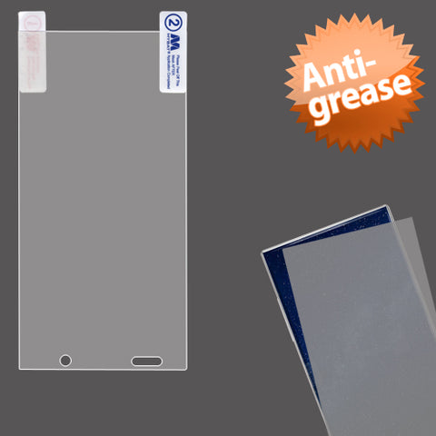 Clear Anti-grease LCD Screen Protector +cloth for Sharp Aquos Crystal