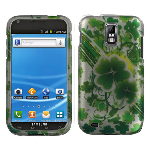 For T989 Galaxy S II Lizzo Lucky Clovers (2D Silver) Phone Protector Cover