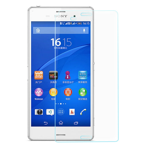 Tempered Glass Screen Protector Cover 0.26MM 2.5RD for Sony Xperia Z3
