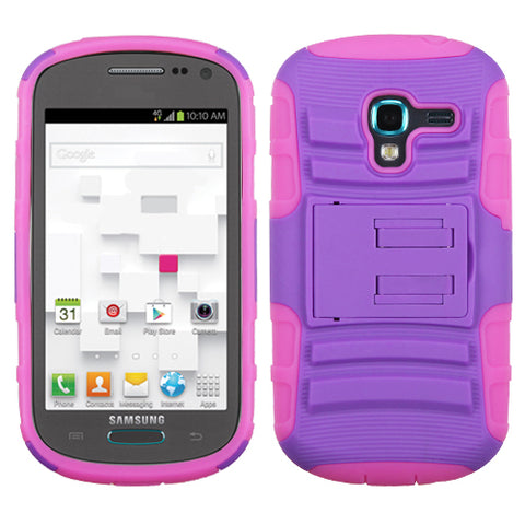 Impact Armor Rugged Protector Cover Case w/Stand for Samsung Galaxy Exhibit T599