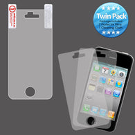 2x LCD Screen Cover Protector Film with Cloth Wipe for Iphone 4 4S
