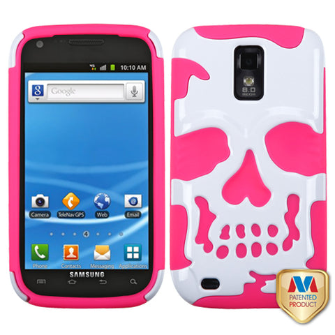 Skull Case +Silicone Cover Protector Case for Samsung T989 Galaxy S II