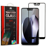 For Google Pixel 3 XL Full Coverage Tempered Glass Screen Protector Clear/Black