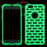 For iPhone 6S/6 Lightning Electric Green GloCase Hybrid Case Cover (Brick)