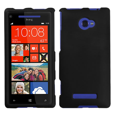 For Windows Phone 8X Black Phone Protector Cover (Rubberized)