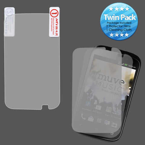 2x LCD Screen Cover Protector Film with Cloth Wipe for HTC Desire C