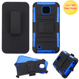 For LG X Cam (K580) Advanced Impact Armor Stand Protector Cover Case w/Holster