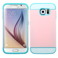 For G920 Galaxy S6 Pink/Blue TUP Card Wallet Phone Protector Cover