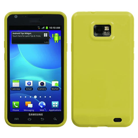 For I777 Galaxy S II Solid Apple Green Silicone Candy Skin Protector Cover Case