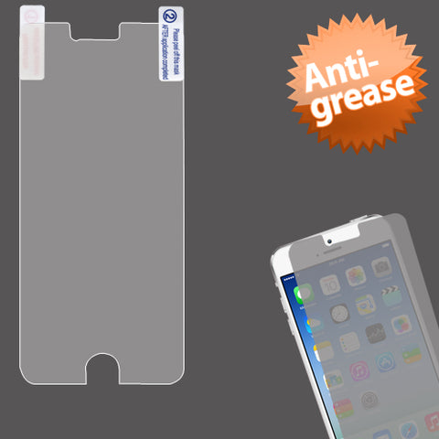 Clear Anti-grease LCD Screen Protector +cloth wipe for iPhone 6