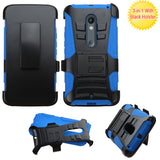 For X Play Black/Blue Advanced Armor Stand Protector Cover (With Black Holster)