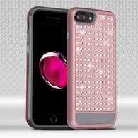 For iPhone 7 / 8 Plus Diamante FullStar Rugged Impact Armor Protector Case Cover