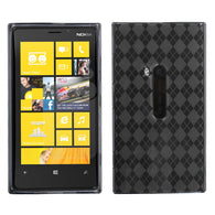 For 920 Lumia Smoke Argyle Silicone Candy Skin Protector Cover Case