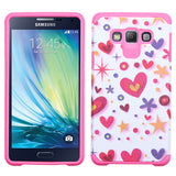 For A700 Galaxy A7 Hard Design +Silicone Cover Protector Case