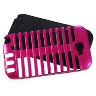 For Galaxy Note 2 Hot Pink/Black Microphone Fusion Protector Cover