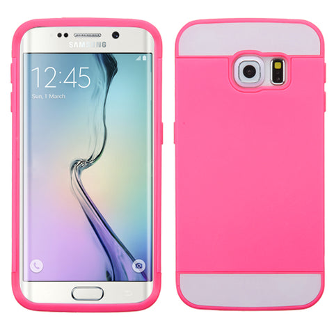 For G925 Galaxy S6 Edge Hot Pink/Hot Pink TUP Card Wallet Phone Protector Cover