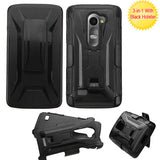 For RISIO, C40 Leon/H320 Black Advanced Armor Stand Case Cover (With Holster)