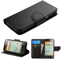 For 5017 OneTouch ELEVATE Black Pattern/Black Liner MyJacket wallet +card slot