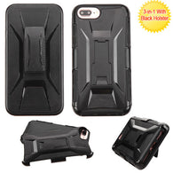 For iPhone 7 / 8 Plus Advanced Impact Armor Stand Protector Cover w/ Holster