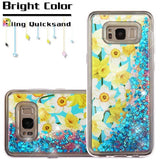 For Samsung Galaxy S8 Quicksand Glitter Hybrid Soft Rubber Protector Case Cover