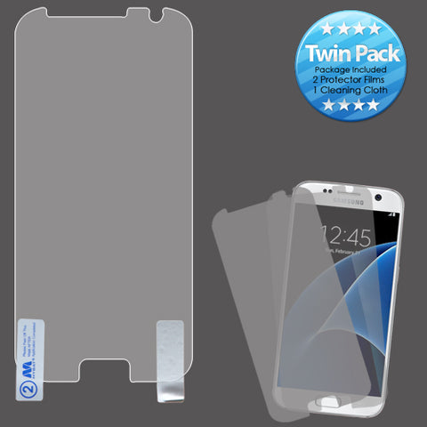 2x LCD Screen Cover Protector Film with Cloth Wipe for Samsung Galaxy S7