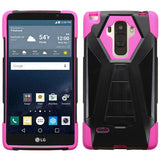 For LS770 G Stylo Hot Pink Inverse Advanced Armor Stand Protector Cover