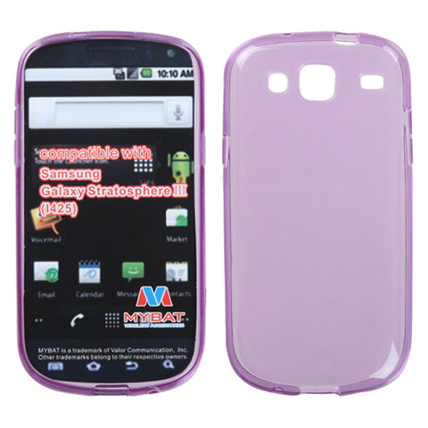 For I425 Galaxy Stratosphere III Semi Transparent Purple Candy Skin Cover